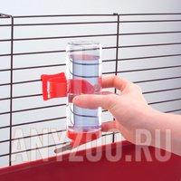 Ferplast Drinky Ферпласт поилка шарик для грызунов на крючках (прозрачное стекло) 300мл ( Миски и поилки )