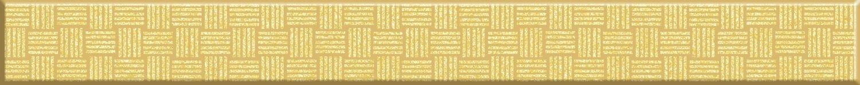 Стекло Cersanit Бордюр стеклянный Glass золотистый (GL7H381) 4x35