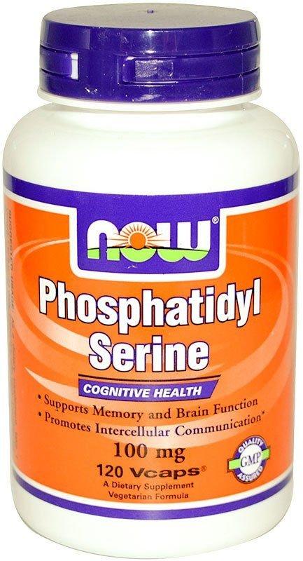 Now Фосфолипидная добавка к пище Phosphatidyl Serine 100 мг 50 капсул NOW