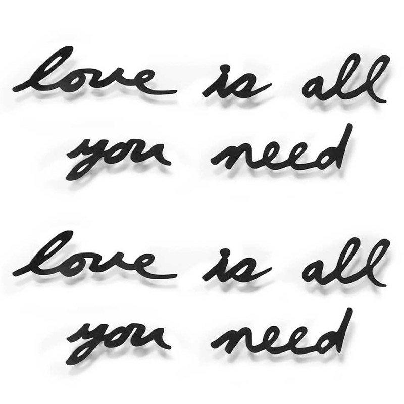 Надпись декоративная Love is all you need настенная черная, Umbra 470580-040