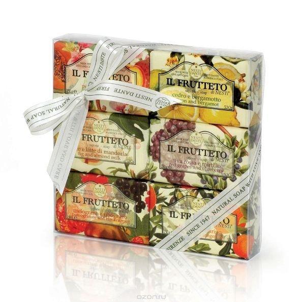 Мыло, Мыло Nesti dante туалетное фруктовая коллекция 6х150