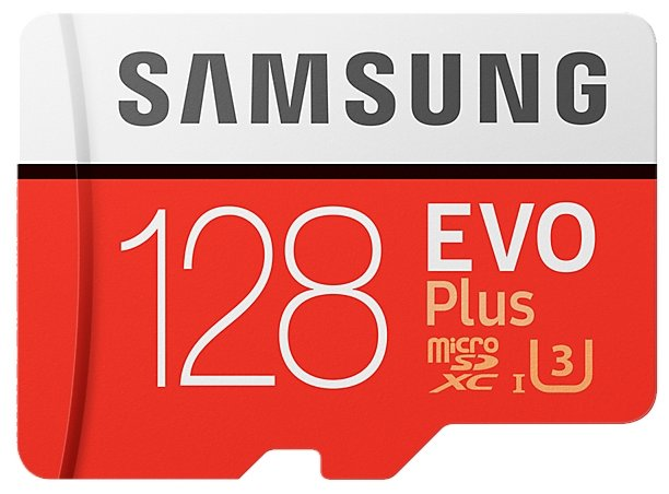 Карта памяти 128Gb MicroSD Samsung EVO Plus Class 10 + adapter (MB-MC128GA)