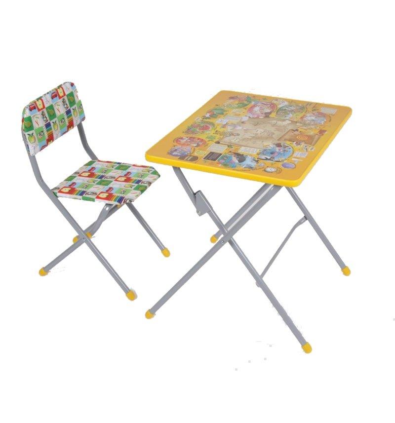 Комплект детской мебели Фея Досуг № 301, цвет: серый/желтый