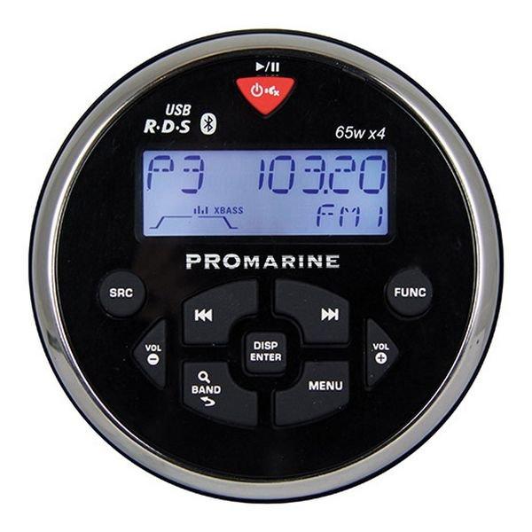 Судовой радиоприёмник круглый LTC PROMarine 1111 3100 чёрный 18 частот 4 x 65 Вт Mosfet