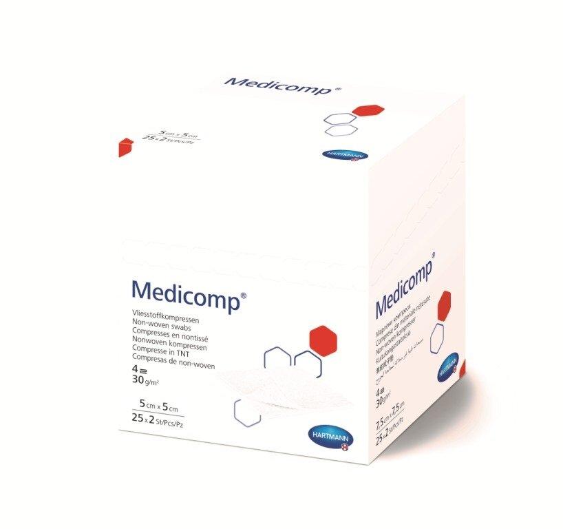 Medicomp / Медикомп - стерильная нетканая салфетка, 5x5 см, 2 шт. — купить по выгодной цене на Яндекс.Маркете