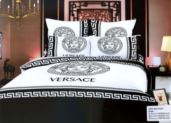 Постельное белье Versace Семейное Сатин (хлопок 100%) арт. 1327