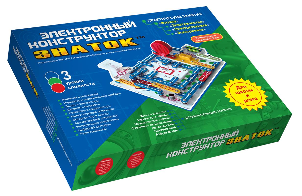 Электронный конструктор для школы и дома (999 схем) Знаток 70006 999-Znat+Sh