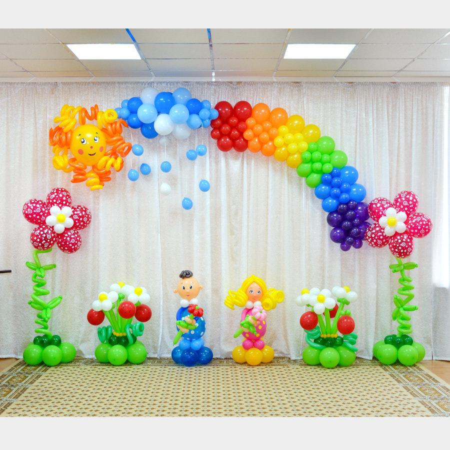 Арка из шаров для детских праздников «3»