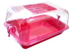 Террариумы Zooexpress Террариум разборный с пластиковой дверцей прозрачный 40*27*18, 2.16кг, 2.16 кг