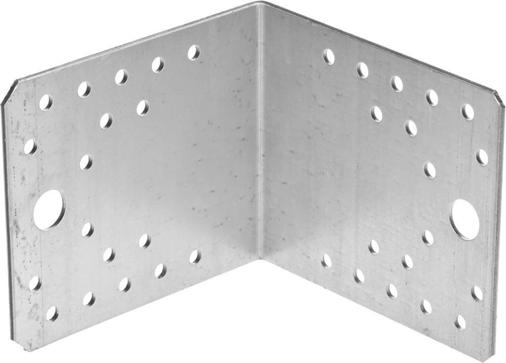 Крепежный угол 90х105х105 мм 20 шт Зубр МАСТЕР 310125-90-105