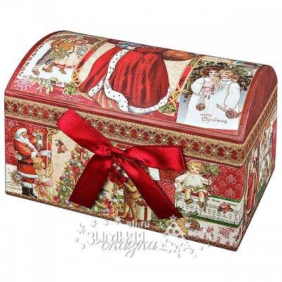 Mister Christmas Новогодняя подарочная коробка Сундучок 25*17*17 см BR-B-SUNDUK-B-1