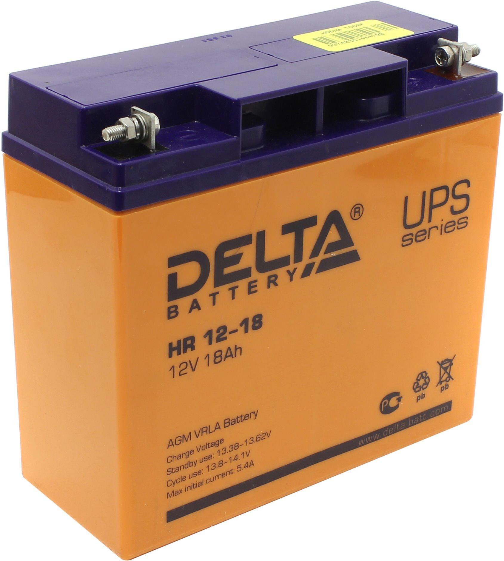Аккумулятор для ИБП Delta HRL 12-18