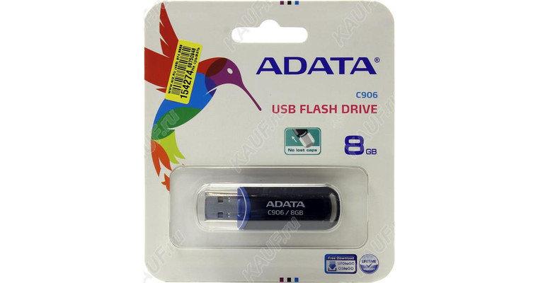 Флешка ADATA Classic C906 AC906-8G-RBK 8 Гб