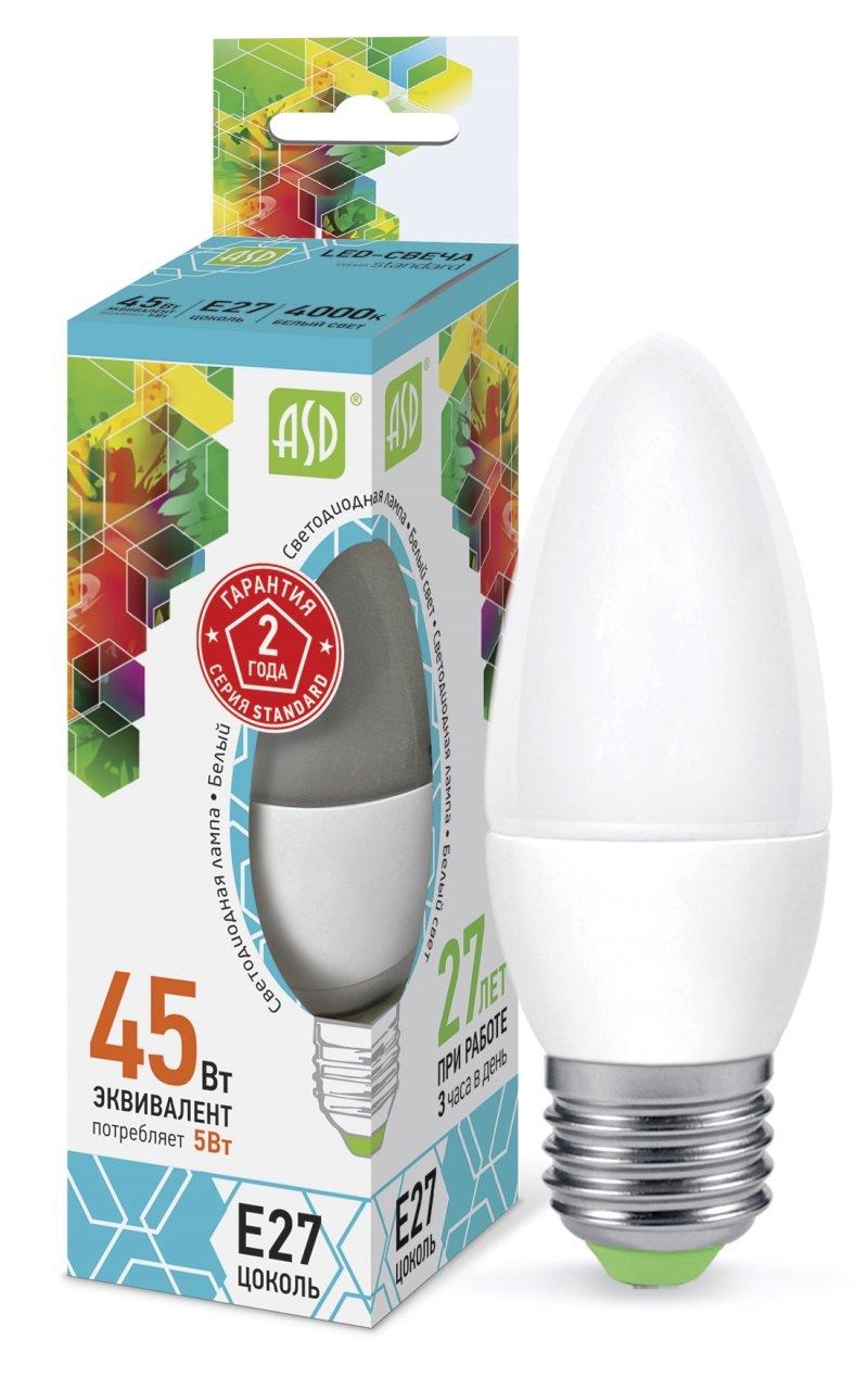 Лампа ASD E27 5Вт 4000K