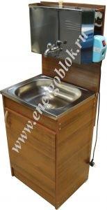Умывальник дачный с подогревом Мойдодыр деревянный каркас с водонагревателем 30 л (нерж)
