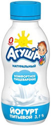 Йогурт Агуша питьевой Натуральный 3,1% с 8 мес. 200 мл