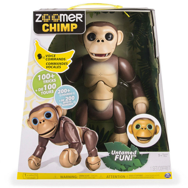 Интерактивная игрушка робот обезьянка Zoomer Chimp Spin Master B019K8K75U