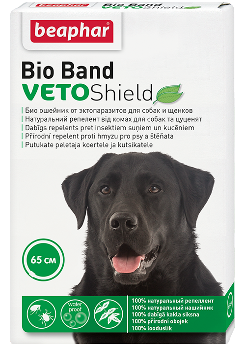Beaphar Ошейник для собак Bio Band от блох, клещей и комаров, 65 см