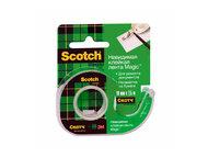 лента клейкая scotch невидимая на мини-диспенсере, 19 мм х 7