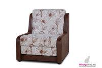 """Кресло-кровать MnogoMeb Кресло-кровать """"Даллас"""" марки-цветы и коричневый кожзам"""