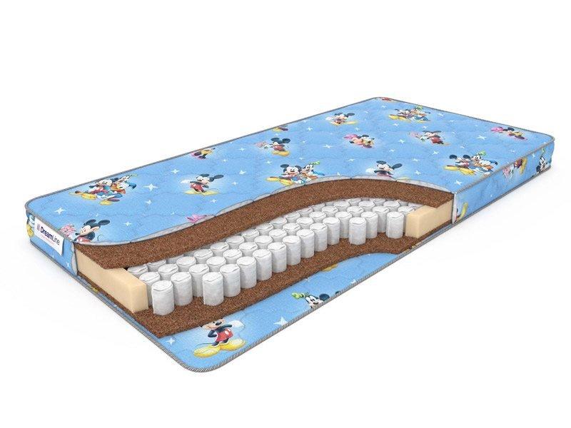 Детский матрас на блоке независимых пружин TFK Dreamline Baby Dream TFK 80х200 см (800х2000 мм) для кроваток