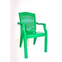 Кресло пластиковое Премиум зеленый 90х45х56 см