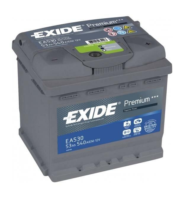 Автомобильный аккумулятор Exide EA530 53A/h 540A