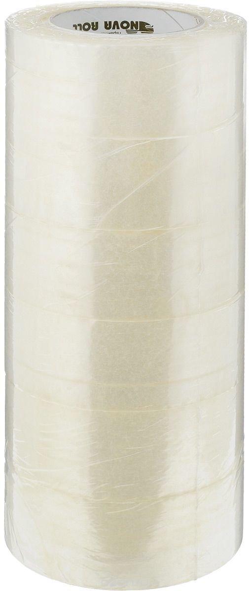 """Скотч упаковочный """"Nova Roll"""", цвет: прозрачный, ширина 4,8 см, длина 150 м, 6 шт"""