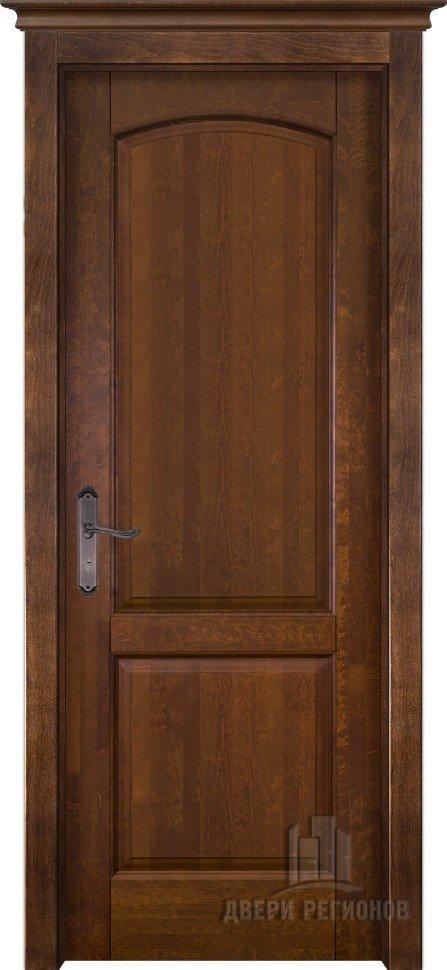 Белорусские двери из массива ольхи фоборг (Античный орех ПГ)