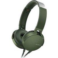 Наушники Sony MDR-XB550AP green