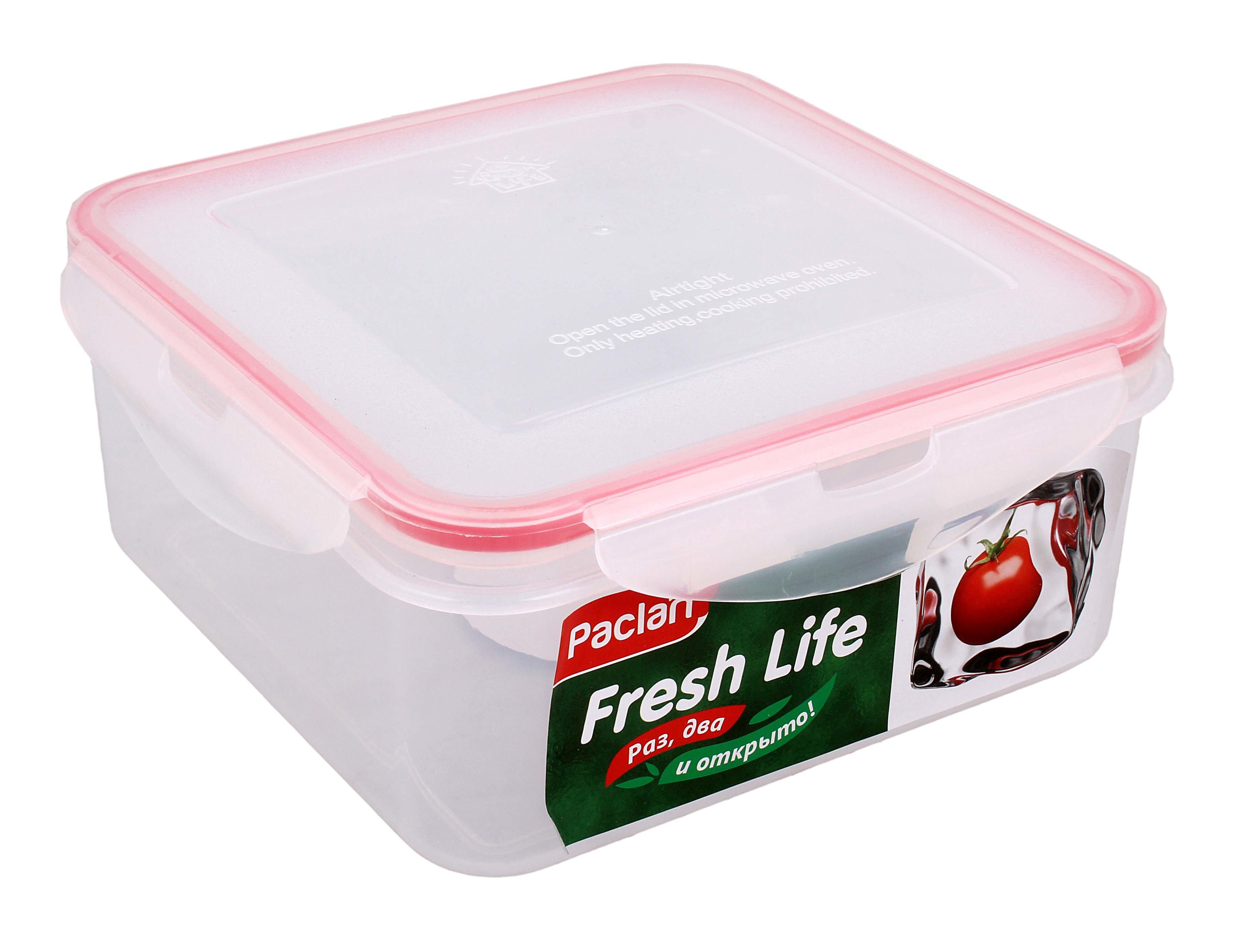 Контейнер Paclan 414004 контейнер квадратный для пищевых продуктов 1.7л арт.
