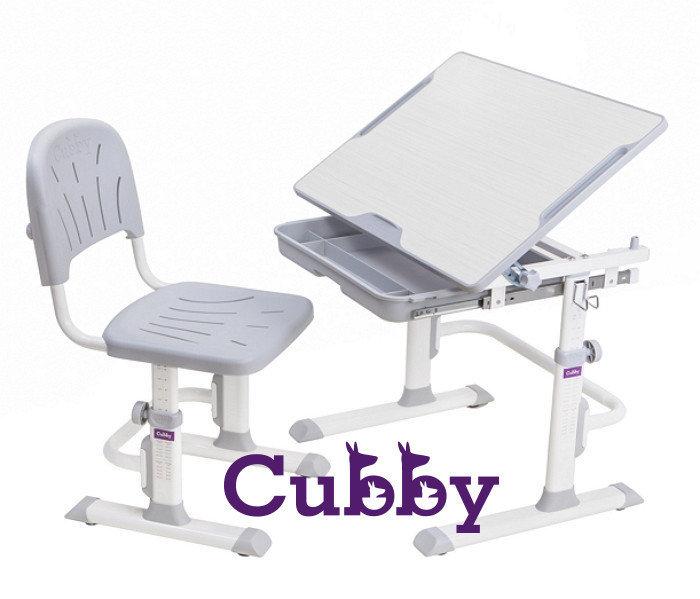 Растущая детская парта со стульчиком Cubby Lupin Серый