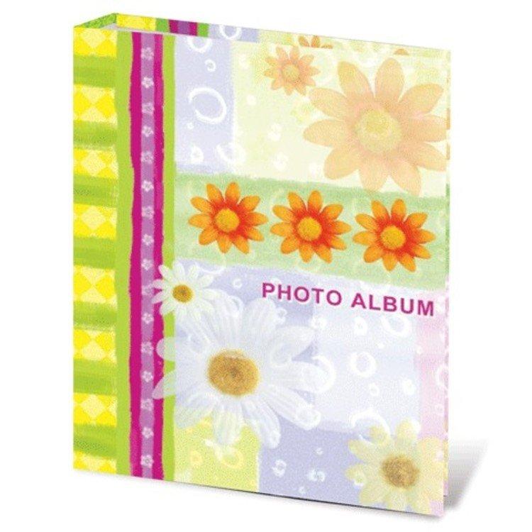 """Фотоальбом BRAUBERG на 200 фотографий 10х15 см, твердая обложка, """"Ромашки"""", 390670"""