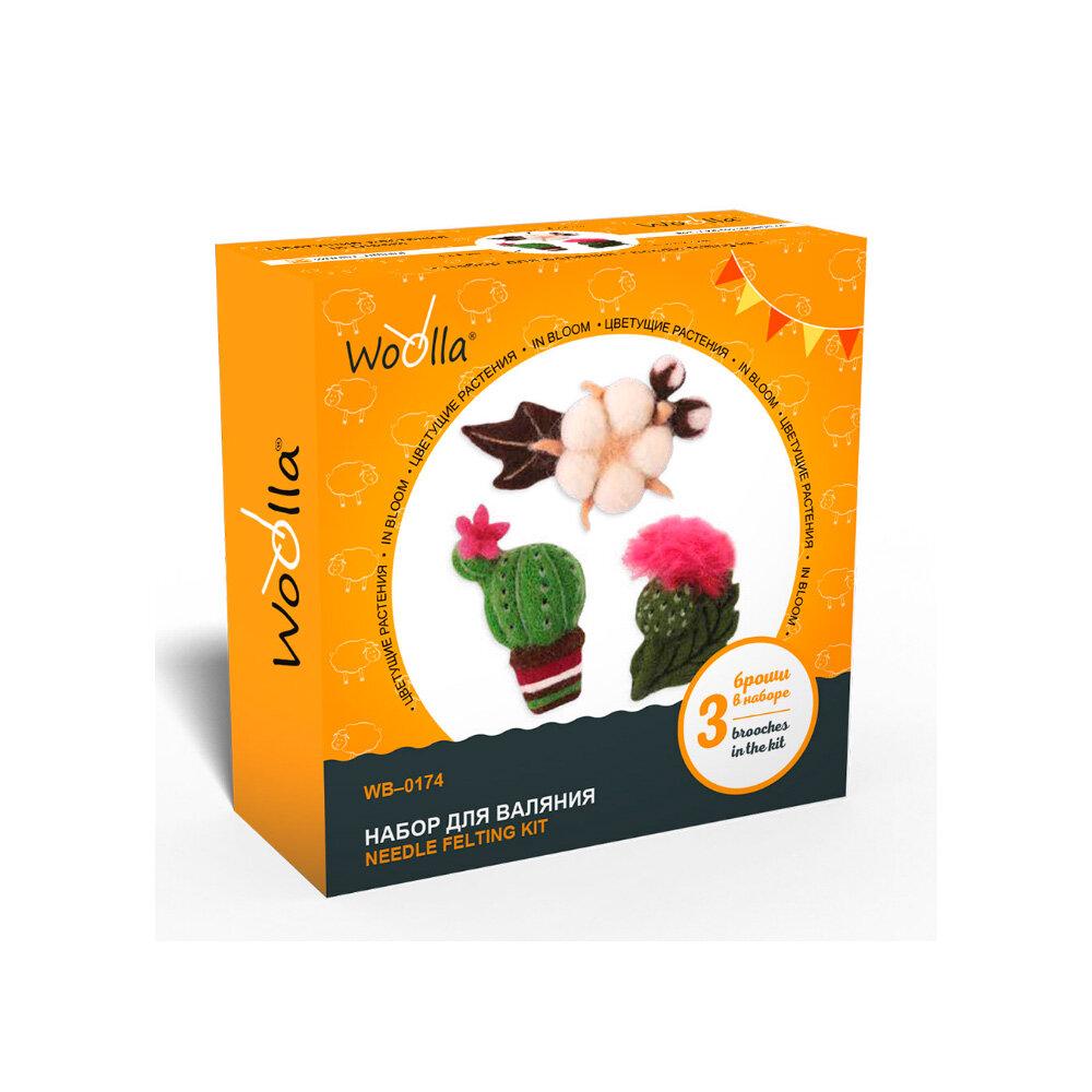 Набор для валяния Woolla Цветущие растения