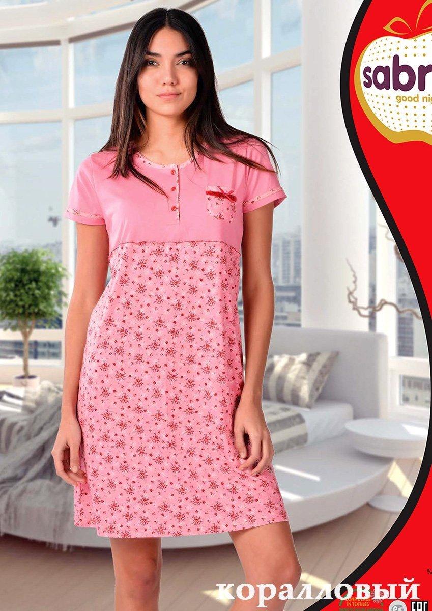 Рубашка ночная средней длины 22593 Sabrina,