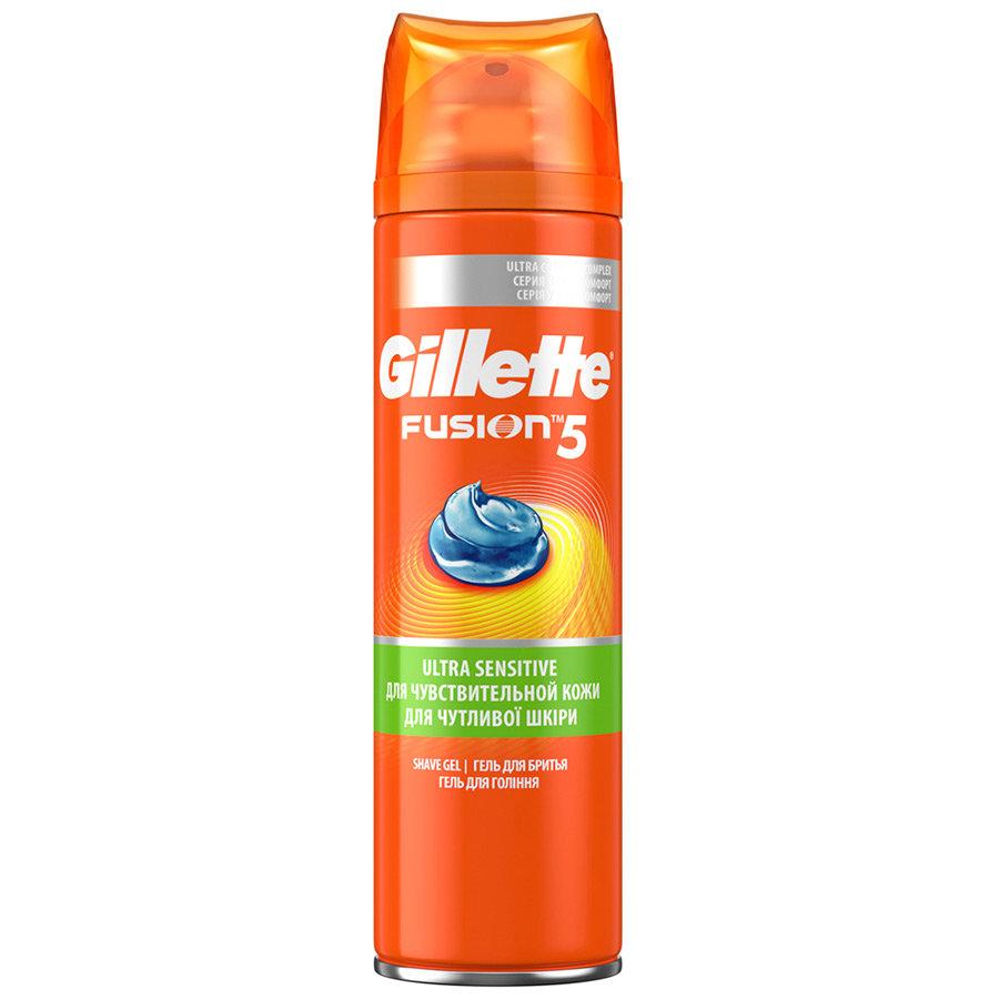 Гель для бритья Gillette Fusion Sets Hydra Gel Sensitive Skin для чувствительной кожи, 200мл