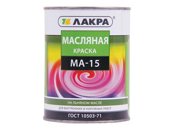 краска масляная лакра /ма-15/ зеленый 0,9кг