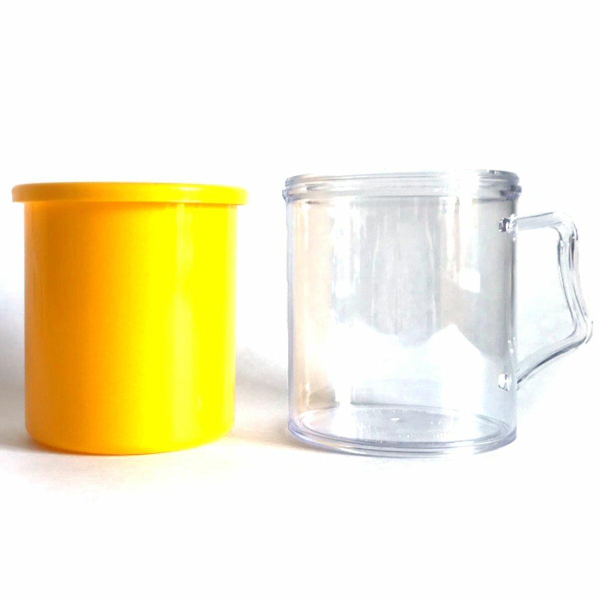 Заготовки пластиковых кружек под полиграфическую вставку АК2 (Желтый, 40 шт.)