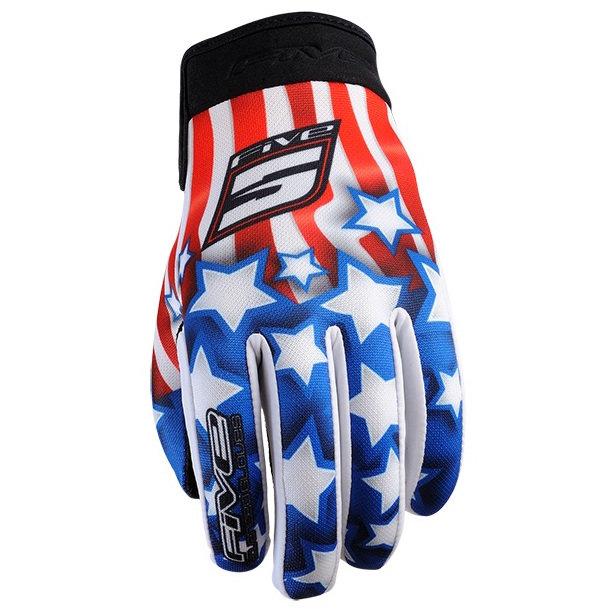 Five Planet Patriot Usa мотоперчатки текстильные (цвет: комбинированные, размер: s)