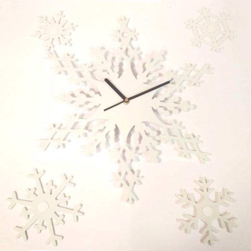 Часы из снежинок