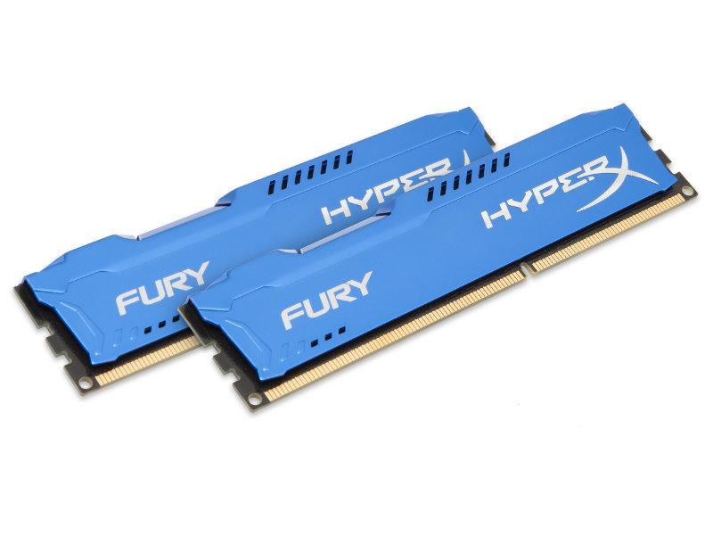 Модуль памяти Kingston HyperX Fury Blue Series PC3-15000 DIMM DDR3 1866MHz CL10 - 8Gb KIT (2x4Gb) HX318C10FK2/8