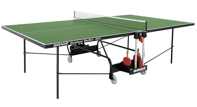 Donic Всепогодный теннисный стол Outdoor Roller 400 (зеленый)