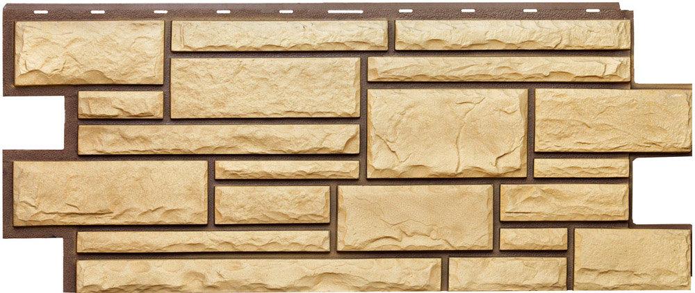 Сайдинг Фасадные панели Т-сайдинг Фасадные Панели Т-Сайдинг Коллекция Дикий Камень - Пустынный