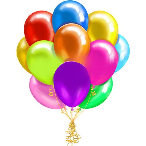 Воздушные шары с гелием «Ассорти», металлик