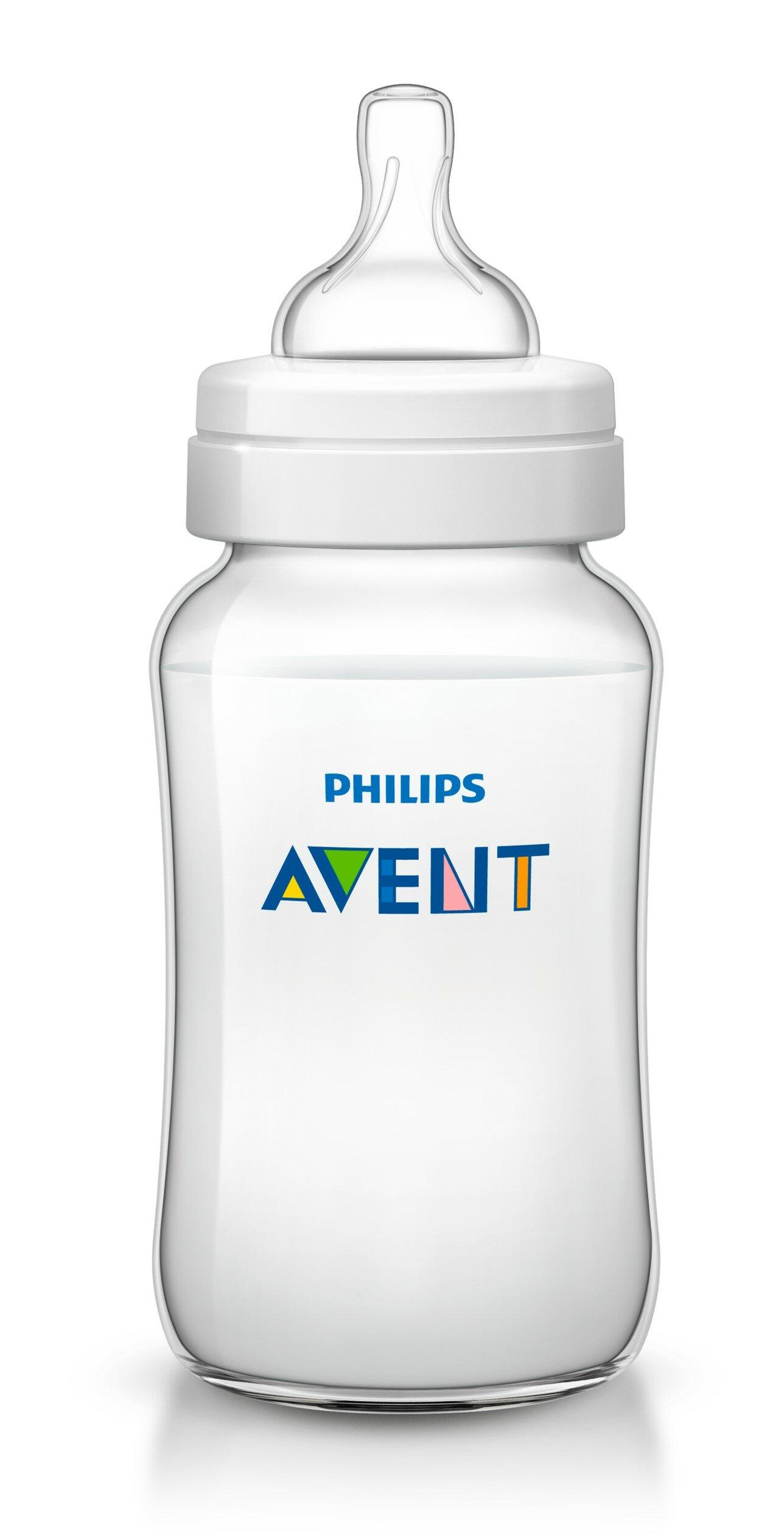 Philips AVENT Бутылочка полипропиленовая Classic+ SCF566/17, 330 мл с 3 мес.