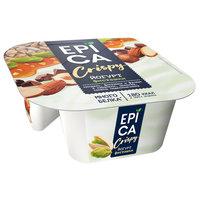 Йогурт Еpica Crispy с фисташками и смесь из семян подсолнечника, орехов и темного шоколада 4,8%, 140г