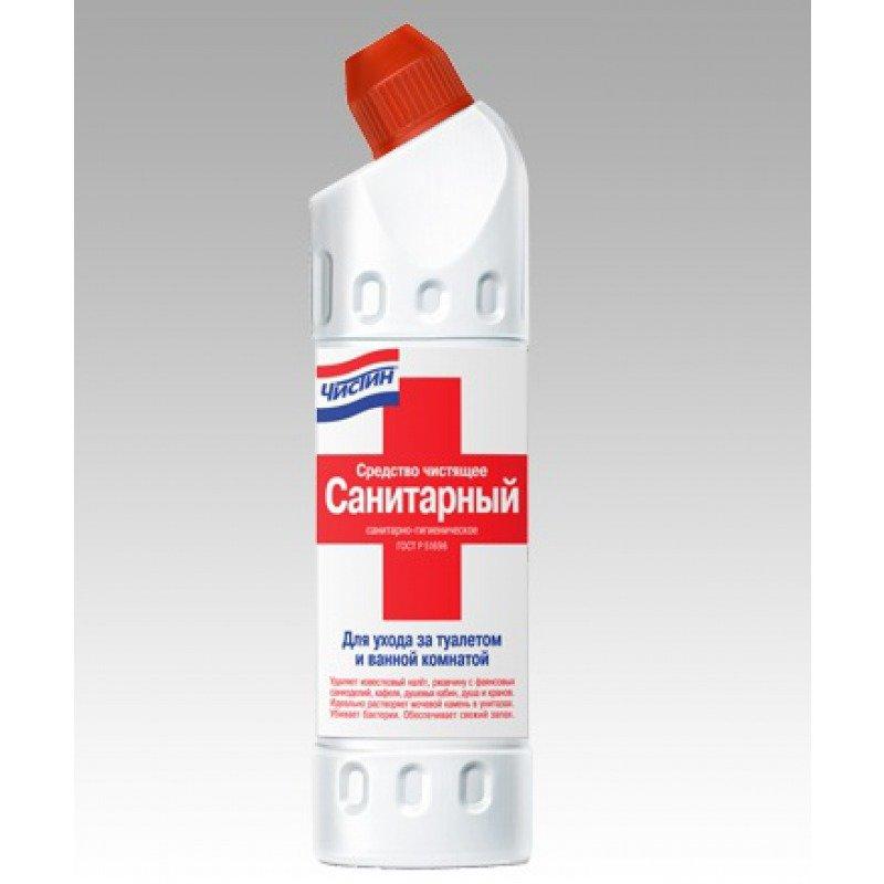 """Чистящее средство для сантехники ЧИСТИН """"Санитарный"""" жидкий, не содержит хлор, 750 г"""