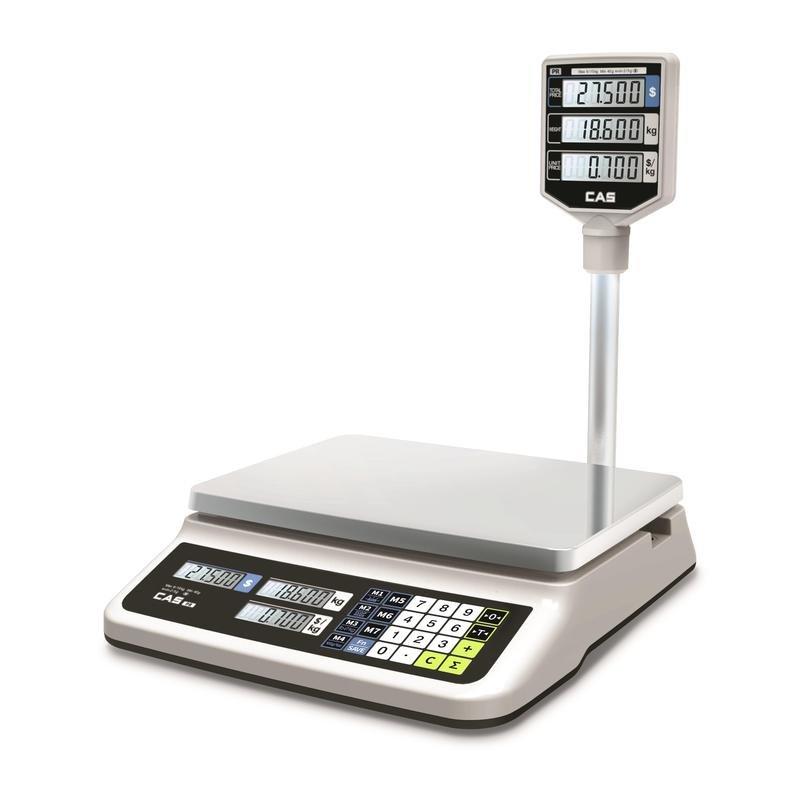 """Весы торговые со стойкой """"CAS PR-30P LCD"""", до 30 кг"""