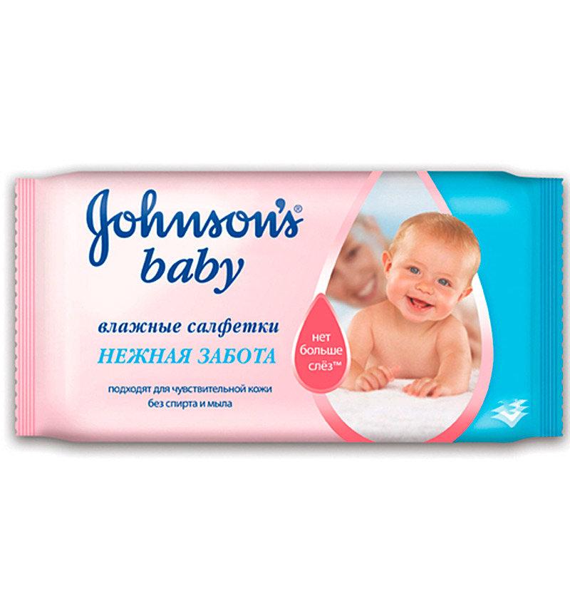 Влажные салфетки Johnson's Baby Нежная Забота, 64