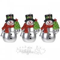 Koopman Елочная игрушка Снеговик 8 см, 3 шт, подвеска CAP103640